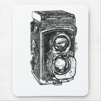 Vintage Rolleiflex Camera Mouse Pad