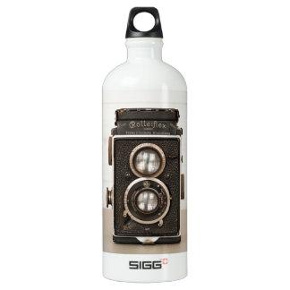 Vintage Rolleiflex Twin lens camera Aluminum Water Bottle