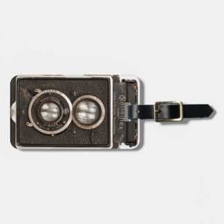 Vintage Rolleiflex Twin lens camera Bag Tag