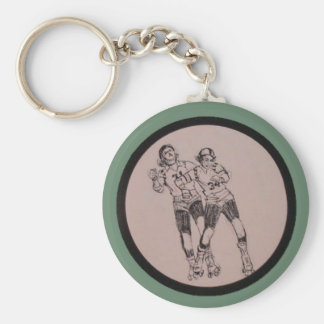 Vintage Roller Derby Program cover art Keychain