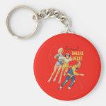 Vintage Roller Derby Program cover art Keychains