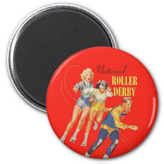 Vintage Roller Derby Program cover art Magnet