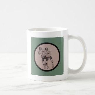 Vintage Roller Derby Program cover art Classic White Coffee Mug