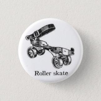 Vintage Roller Skate Button
