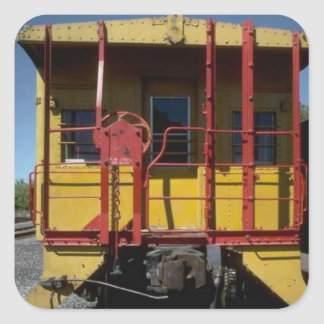 Vintage rolling stock square sticker