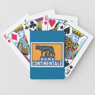 Vintage Roma Continentale Cartas De Juego