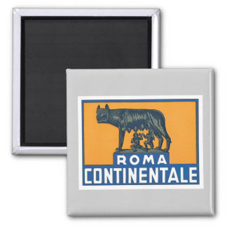 Vintage Roma Continentale Imán Cuadrado