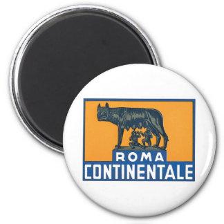 Vintage Roma Continentale Imán Redondo 5 Cm
