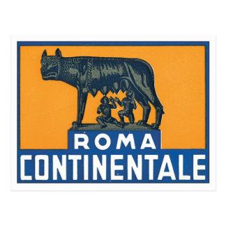 Vintage Roma Continentale Postcard