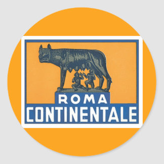 Vintage Roma Continentale Round Stickers