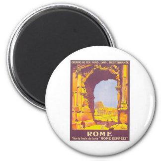 Vintage Roma expresa Imán Redondo 5 Cm