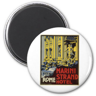 Vintage Roma Imán Redondo 5 Cm