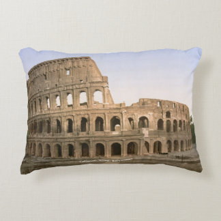 Vintage Roma Italia, coliseo c1900 Cojín