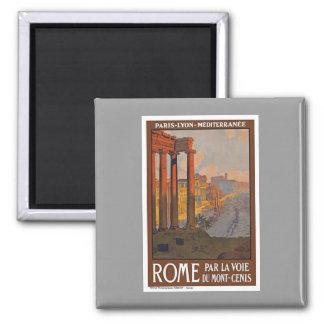 Vintage Roma Italia Imán Cuadrado