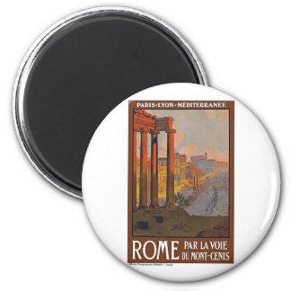 Vintage Roma Italia Imán Redondo 5 Cm