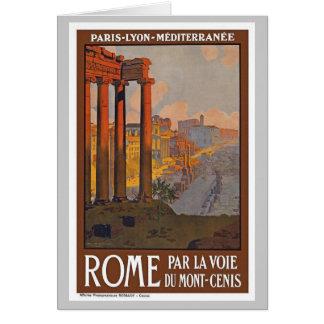 Vintage Roma Italia Tarjeta De Felicitación