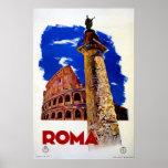 Vintage Roma Rome Italian travel Poster