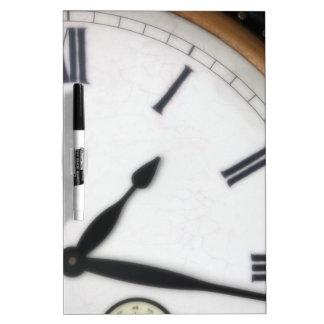 Vintage Roman Numeral Clock Dry-Erase Board