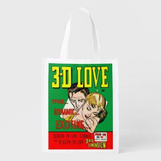VINTAGE ROMANCE COMIC BOOK Reusable Grocery Bag Grocery Bag