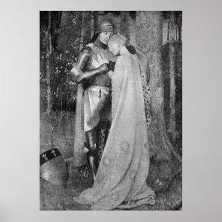 Vintage - romance dulce - Edades Medias Impresiones