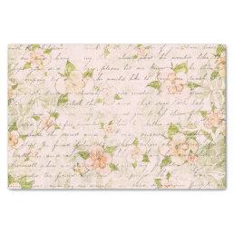Vintage Romance Floral Shabby Tissue Paper