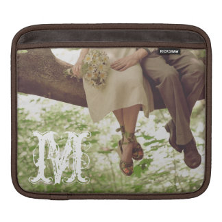 Vintage Romance Love Coup Monogram IPAD Laptop Bag Sleeve For iPads