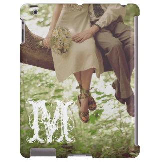 Vintage Romance Love Couple Monogram IPAD Case