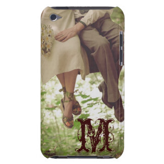 Vintage Romance Love Monogram Initial IPOD Touch Barely There iPod Cases