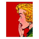Vintage Romance Novel Girl Comic Art Postcard