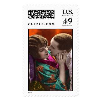 Vintage Romance - Postage Stamp