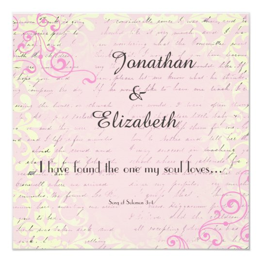 Vintage Romance with Bible Verse Wedding Card | Zazzle.com