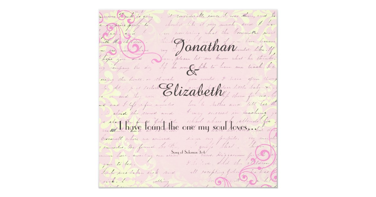Wedding Bible Verses For Invitation Cards: Vintage Romance With Bible Verse Wedding Invitation