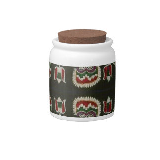 Vintage Romanian embroidery Candy Jars
