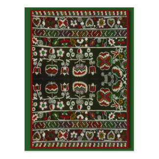 Vintage Romanian embroidery Postcard