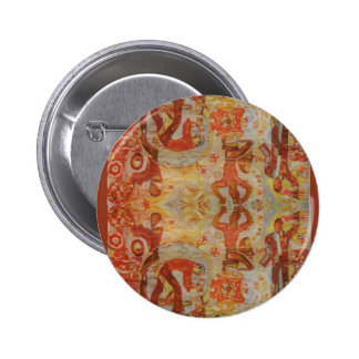 Vintage Romanian embroidery traditional design Pinback Buttons