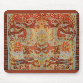 Vintage Romanian embroidery, traditional design Mousepad