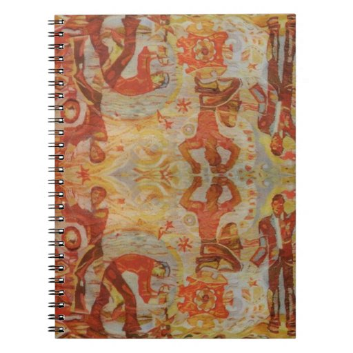 Vintage Romanian embroidery, traditional design Spiral Notebooks