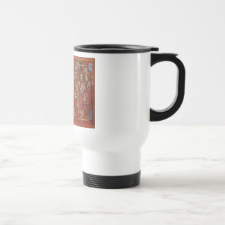 Vintage Romanian needlework, embroidery Travel Mug