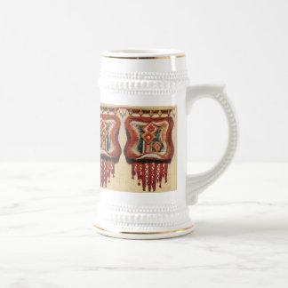 Vintage Romanian Needlework Coffee Mug