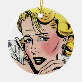 Vintage Romantic Art - First Romance Break Up Ceramic Ornament