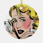 Vintage Romantic Art - First Romance Break Up Double-Sided Ceramic Round Christmas Ornament