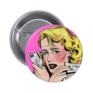 Vintage Romantic Art - First Romance Break Up Pinback Button