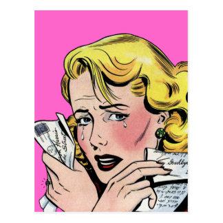 Vintage Romantic Art - First Romance Break Up Postcard