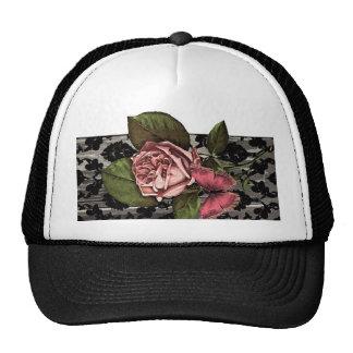 Vintage Romantic Art Nouveau Damask Rose Hats