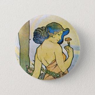 Vintage Romantic Art Pinback Button
