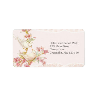 Vintage Romantic Birds in Love Personalized Address Labels