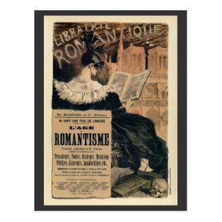 Vintage Romantic books ad Postcard