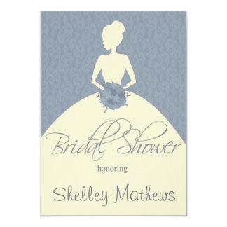 vintage romantic bride  bridal shower invitation