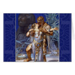 Vintage Romantic Couple Anthony and Cleopatra Kiss Greeting Card