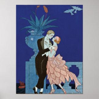 Vintage Romantic Couple Oui Poster
